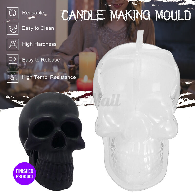 DIY Candle Mould Handmade Craft Soap Aromatherapy Making Wax Mold Skull Template
