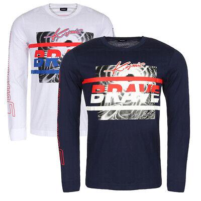 Diesel Long Sleeve Sweater (Diesel Herren Longsleeve T-Shirt Langarm Rundhals Classic Sportlich Sweatshirt)