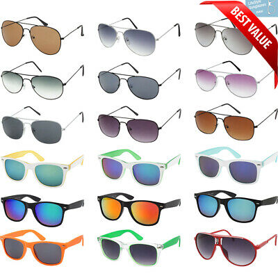 Bulk Sunglasses Wholesale Lot 36 PC Box Assorted Styles Unisex Men Women Styles  (Bulk Plastic Sunglasses)