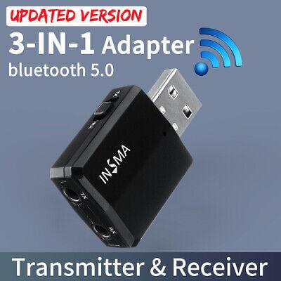 bluetooth 5.0 Wireless  Receiver Audio Adapter Transmitter 3.5mm Music AUX