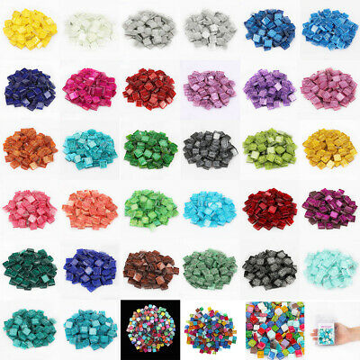 Glitter Square Glass Mosaic Tiles DIY Crafts Material Hobbies Artwork Suppliers  - Mosaic Crafts