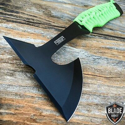 "9"" ZOMBIE SURVIVAL TOMAHAWK THROWING AXE BATTLE Hatchet Knife Hunting Hawk"
