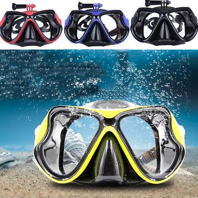 Tauchmaske Scuba Schnorchel Wasser Brille Gesicht Halterung für GOPRO Hero 4 US