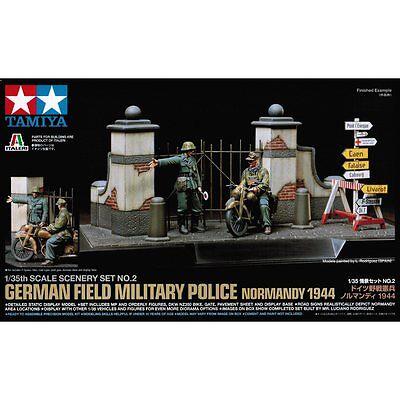 Tamiya 89740 Scene Set 2 German Field Police 1/35 Scale Military Model Kit
