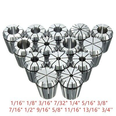 Er32 Collet Set 14pcs 116 -34 For Cnc Milling Lathe Tool Engraving Machine
