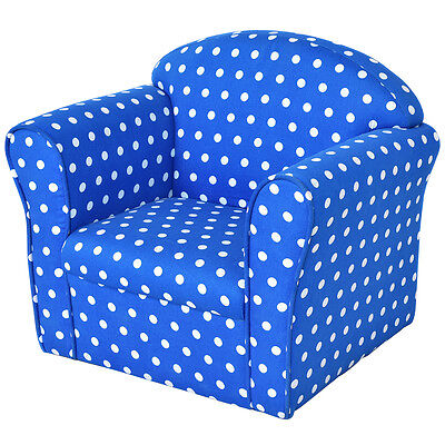 Blue w/Dots Kid Sofa Armrest Chair Couch Children Living Room Toddler Furniture