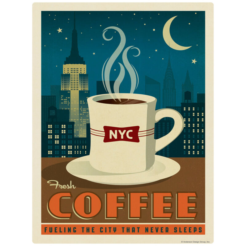 New York City Coffee NYC Decal 26 x 34 Peel and Stick Kitchen Decor