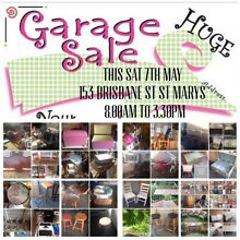 HUGE (GARAGE SALE) SAT 7th MAY 8.00am to 3.30pm St Marys Penrith Area Preview