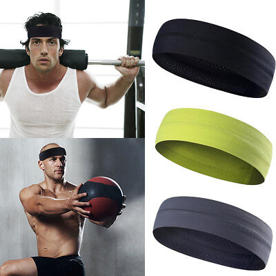 Women Men Moisture Wicking Headband Sweatband Sport Headbands Yoga Gym Fitness - Adult Headbands