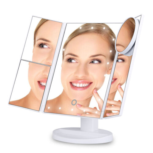 Makeup Mirror Cosmetic Illuminated Desktop Stand with 22 LED