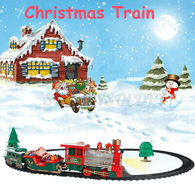 Electric Christmas Train Track Set Light Musical Sound-Around Tree Kids Toy Gift