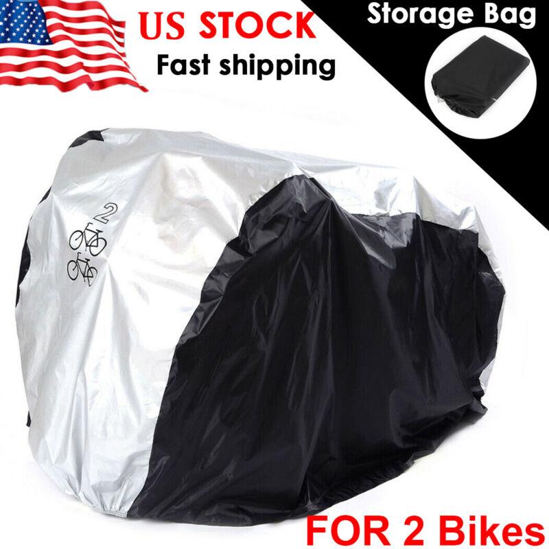 M Waterproof Bike Bicycle Cover Outdoor Rain UV Protector Dustproof For 2 Bikes