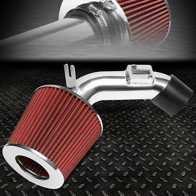 FOR 06-11 HONDA CIVIC DX LX LIGHTWEIGHT SHORT RAM AIR INTAKE SYSTEM+RED FILTER