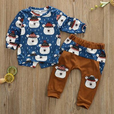 Polar Bear Outfit (NWT Polar Bear Baby Boys Blue Long Sleeve Shirt & Pants Outfit Set)