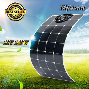 140W 12V Semi Flexible Solar Panel Battery Charging For Boat Caravan Motorhome
