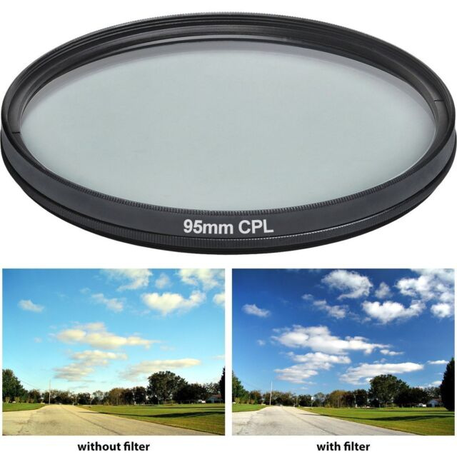 Power^UP 95MM Multi-Coated Circular Polarizer (CPL) Filter For Tamron 150-600mm,