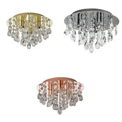 Argos Home Ivy Glass Drop Ceiling Light - Choice of Brass / Copper / Chrome
