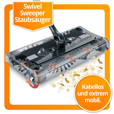 Sweeper (Original Swivel Cordless Sweeper Akkustaubsauger der Akkubesen Akku Staubsauger)