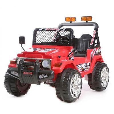 Auto Elettrica Jeep Safari 12V per Bambini 2 Posti  Con telecomando Rossa usato  Napoli