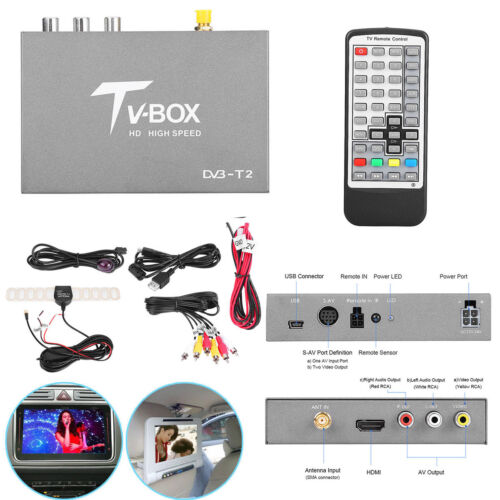 1920x1080p Car Hd Dvb-t2 Digital Mini Tv Box Receiver Mpeg-4 H.264 Analog Tuner
