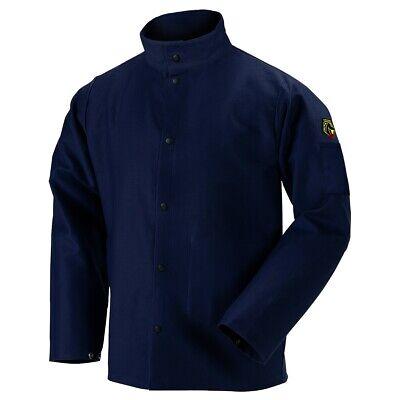 Black Stallion Truguard 200 9oz Navy Fr Cotton Welding Jacket Medium Fn9-30c