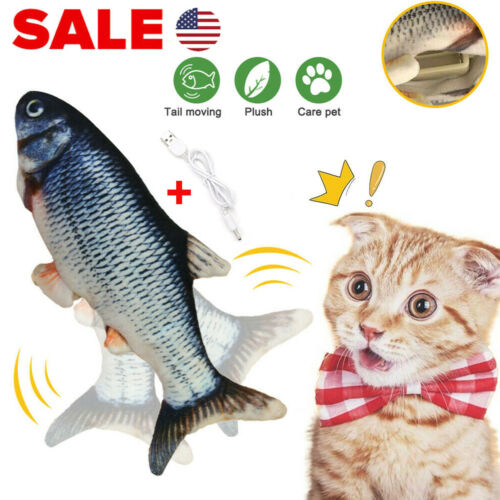 Electronic Pet Cat USB Charging Catnip Simulation Dog Jumping Flippity Fish Toy