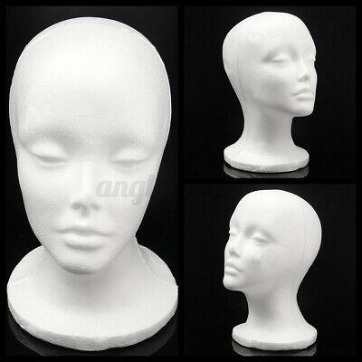 Female Head Model Wig Hair Hat Display Styrofoam Foam Mannequin Manikin Us