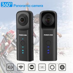 360° WiFi 30fps Panoramic VR Camera Dual Fisheye Lens 3D Panoramic Digital Video