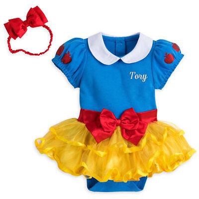 NWT Disney Store Snow White Baby Costume Bodysuit Headband 12 18 24M No - Infant Snow White Costume