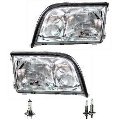 Scheinwerfer Set links & rechts H1/H1/H7 für Mercedes S-Klasse W140 inkl. Lampen