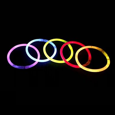 Pack of 200 Premium Glow Sticks Glowsticks Four Assorted Mixed Colours Non Toxic