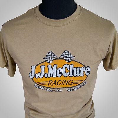 J Mcclure Rennsport Retro Film T-Shirt Tan The Cannonball Run Burt Reynolds 80er