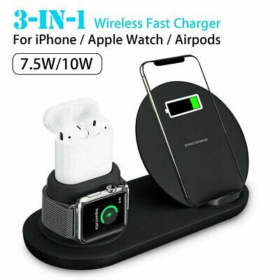 3in1 QI Wireless Charger Charging Dock Station for Apple Watch / iPhone/Air Pods