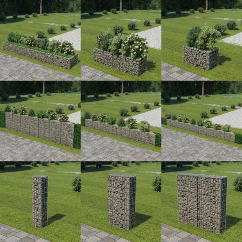 Gabion Planter Galvanised Steel Stone Basket Raised Bed Garden Wire Cage Fench