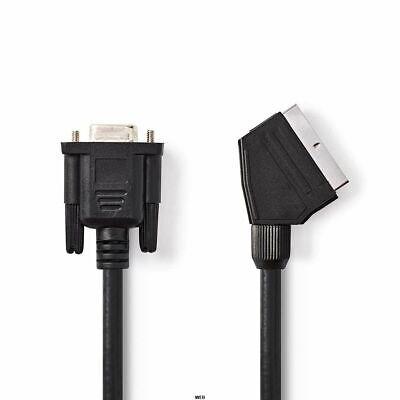 Cable Euroconector - VGA - Euroconector Macho Hembra 2.0M Negro