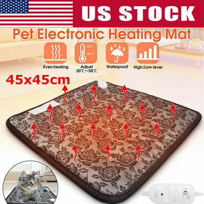 Waterproof Pet Electric Pad Blanket Dog Heated Mat Cat Bunny Heating Cushion Bed