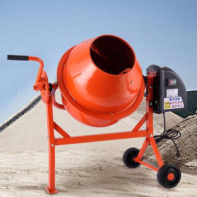 2-15cuft Cement Mixer Portable Concrete Mixing Motar Mixer Machine Electric