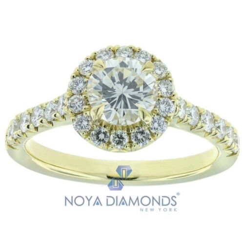 1.31 CARAT J VS2 GIA CERTIFIED ROUND BRILLIANT DIAMOND ENGAGEMENT RING 18K GOLD