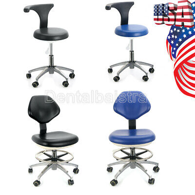Usapu Leather Adjustable Stool Dental Dentist Chair Hydraulic Rolling Stools A