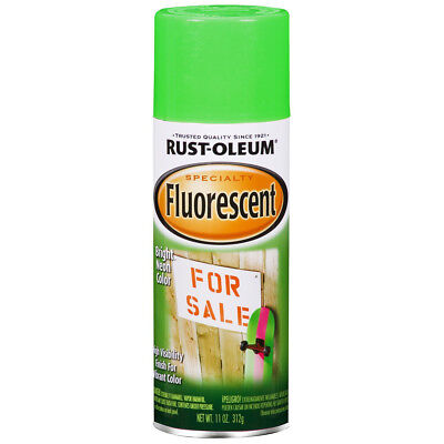 Rust-Oleum FLUORESCENT GREEN SPRAY PAINT Bright Neon Color HIGH VISIBILITY (Fluorescent Green Spray Paint)