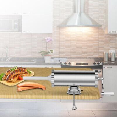 3l Manual Sausage Stuffer Maker Meat Filler Machine W Suction Base Commercial