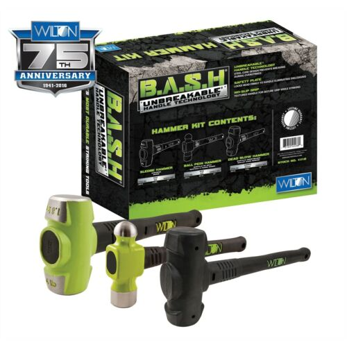 Wilton B.a.s.h 3-piece Shop Sledge Dead Blow Hammer Kit New Free Shipping Usa