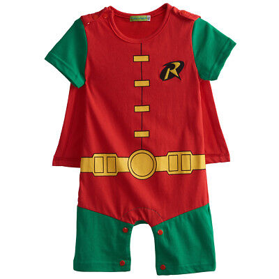 Baby Boys Robin Costume Romper Newborn Jumpsuit Playsuit Infant Party - Baby Robin Costume