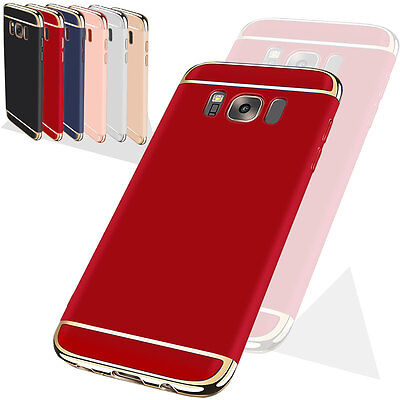 Luxury Electroplate Hybrid Protective Case Cover For Samsung Galaxy S8 Plus Red