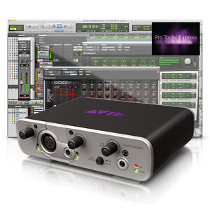 AVID FAST TRACK SOLO RECORDING STUDIO AUDIO INTERFACE+PRO TOOLS MUSIC SOFTWARE
