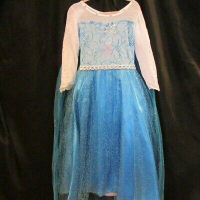Elsa Costume For Women (Snow Queen Princess Elsa Costume Dress Cape  Blue FANCY Girl 6 SHIPS FAST USA)