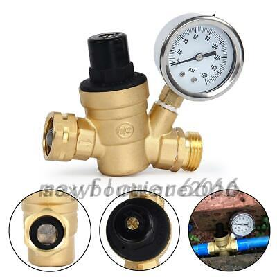 Adjustable Brass Lead-free Water Pressure Regulator Reducer With Gauge Filter