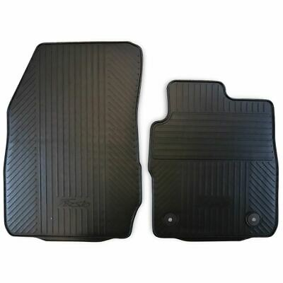 Car Parts - Genuine Ford Fiesta Mk7 Front Rubber Contour Floor Mats 2008-2017 1946805