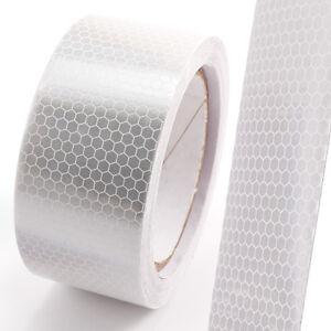 5cm*10M Weiss Reflexfolie Reflektor Klebe Band Streifen Aufkleber Wabenmuster