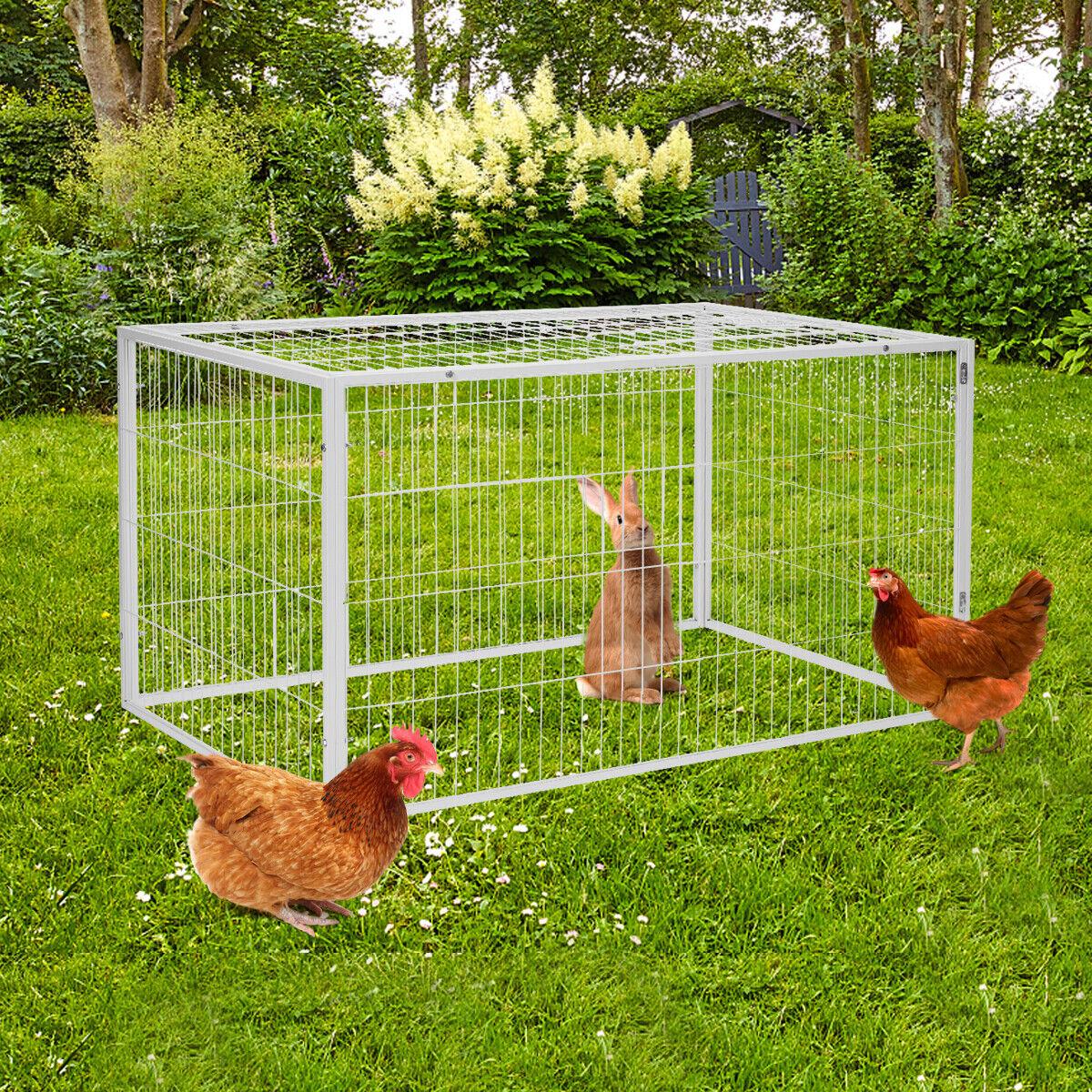 """53"""" Outdoor/Indoor Pet Wire Rabbit Cage Enclosures Metal Hutch Chicken Play Pen Cages, Hutches & Enclosure"""